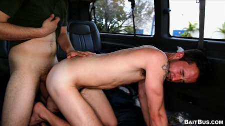 Dude With Dick Piercing gets Ass On The BaitBus 2013-04-19