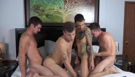 Colby Chambers, Corbin Colby, Jae Gorgeous And Mickey Knox 2017-01-06