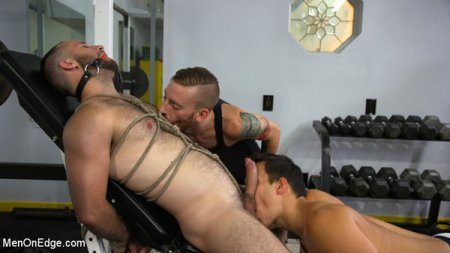 Hairy Hunk Shay Stone Gets Bound, Tickled, and Edged 2017-08-15