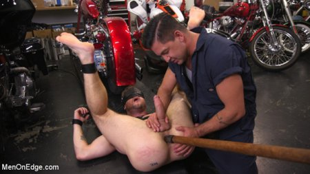 Muscle Stud Ace Era Dominated in Rope Bondage and Edged to Cum 2017-11-07