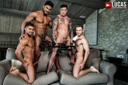 Diego And Geordie's Fuck-Machine Foursome 2018-09-10