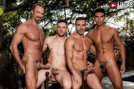 Andrey Vic, Manuel Skye, Dallas Steele & Benjamin Gomez - Daddy Orgy 2018-09-17