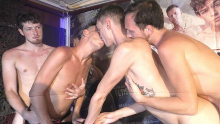 Fetish week party - we got a SECRET mission - get the 100's of guys horny so they dump in us!! 2019-03-05