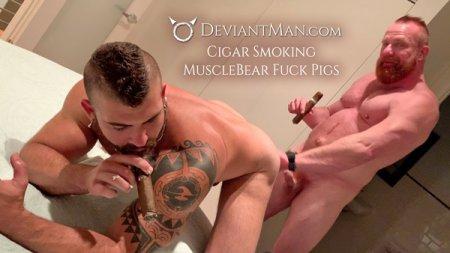 Cigar Smoking MuscleBear Fuck Pigs - Eisen Loch & Jonah Fontana