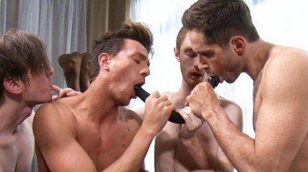 Michael Lucas and His Pornstars Fool Around with Dildos 2014-03-31 [Request]