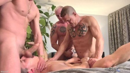 Big C Introduces Hoss Kado To The Tatted Muscle Daddy Couple part 1