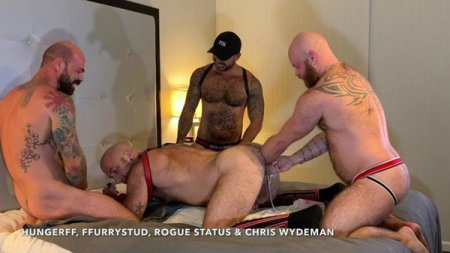 HungerFF - Four Way Fisting Orgy with Rogue Status and Chris Wydeman 2019-09-03