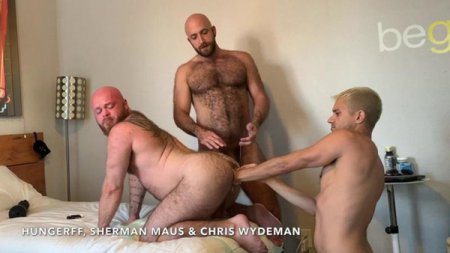 Triple Tag Team Fisting Part 1 - Sherman Maus & HungerFF FistFuck Chris Wydeman 2019-10-28