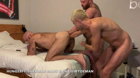 Triple Tag Team Fisting Part 3 - Chris Wydeman and Sherman Maus FistFuck Me! 2019-11-07