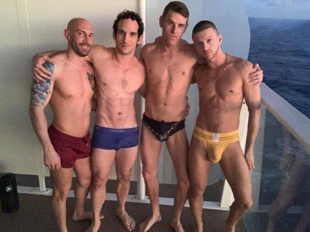 ForMyFans - Orgy at sea (Austin Avery, Greg McKeon, Shane Cook & Jaxson Pomme)