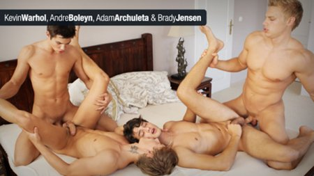Brady Jensen, Adam Archuleta, Andre Boleyn & Kevin Warhol 2012-07-25 [Request]