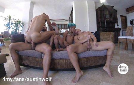Beach House Orgy - Austin Wolf, Austin Avery & Brock Banks