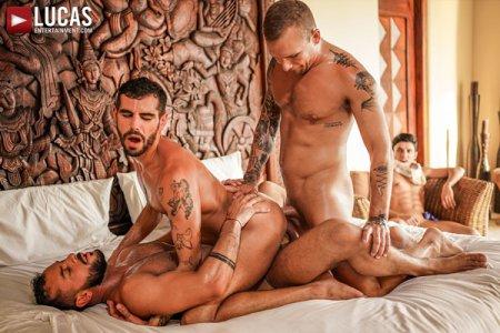 Sir Peter, Isaac X, Valentin Amour & Joaquin Santana - Gay Cuckolds And Alpha Bulls 2021-10-11